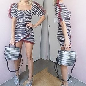 Sezane Skirts - Nwt Delphine AU pinstriped puff sleeve skirt set 4